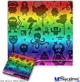 Sony PS3 Slim Skin - Cute Rainbow Monsters
