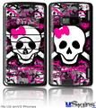 LG enV2 Skin - Splatter Girly Skull
