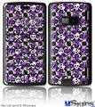 LG enV2 Skin - Splatter Girly Skull Purple
