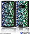 LG enV2 Skin - Splatter Girly Skull Rainbow