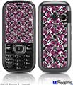 LG Rumor 2 Skin - Splatter Girly Skull Pink