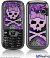 LG Rumor 2 Skin - Purple Girly Skull