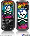 LG Rumor 2 Skin - Rainbow Plaid Skull