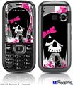 LG Rumor 2 Skin - Scene Kid Girl Skull