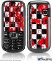 LG Rumor 2 Skin - Checkerboard Splatter