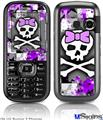 LG Rumor 2 Skin - Purple Princess Skull
