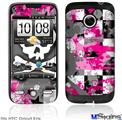 HTC Droid Eris Skin - Girly Pink Bow Skull