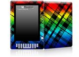 Rainbow Plaid - Decal Style Skin for Amazon Kindle DX