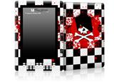 Emo Skull 5 - Decal Style Skin for Amazon Kindle DX