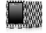 Skull Checkerboard - Decal Style Skin for Amazon Kindle DX