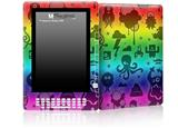 Cute Rainbow Monsters - Decal Style Skin for Amazon Kindle DX