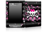 Pink Bow Skull - Decal Style Skin for Amazon Kindle DX