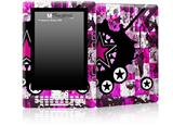 Pink Star Splatter - Decal Style Skin for Amazon Kindle DX
