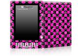 Skull and Crossbones Checkerboard - Decal Style Skin for Amazon Kindle DX