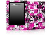 Pink Graffiti - Decal Style Skin for Amazon Kindle DX