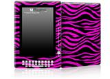 Pink Zebra - Decal Style Skin for Amazon Kindle DX