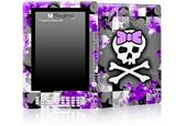 Purple Princess Skull - Decal Style Skin for Amazon Kindle DX