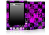 Purple Star Checkerboard - Decal Style Skin for Amazon Kindle DX