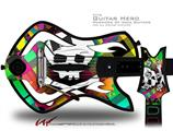 Rainbow Plaid Skull Decal Style Skin - fits Warriors Of Rock Guitar Hero Guitar (GUITAR NOT INCLUDED)