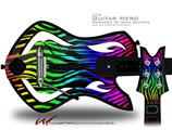 Rainbow Zebra Decal Style Skin - fits Warriors Of Rock Guitar Hero Guitar (GUITAR NOT INCLUDED)
