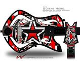 Star Checker Splatter Decal Style Skin - fits Warriors Of Rock Guitar Hero Guitar (GUITAR NOT INCLUDED)