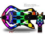 Rainbow Checkerboard Decal Style Skin - fits Warriors Of Rock Guitar Hero Guitar (GUITAR NOT INCLUDED)