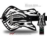 Zebra Decal Style Skin - fits Warriors Of Rock Guitar Hero Guitar (GUITAR NOT INCLUDED)