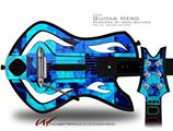 Blue Star Checkers Decal Style Skin - fits Warriors Of Rock Guitar Hero Guitar (GUITAR NOT INCLUDED)