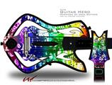 Rainbow Graffiti Decal Style Skin - fits Warriors Of Rock Guitar Hero Guitar (GUITAR NOT INCLUDED)