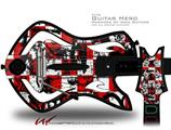 Checker Graffiti Decal Style Skin - fits Warriors Of Rock Guitar Hero Guitar (GUITAR NOT INCLUDED)