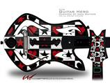 Hearts and Stars Red Decal Style Skin - fits Warriors Of Rock Guitar Hero Guitar (GUITAR NOT INCLUDED)