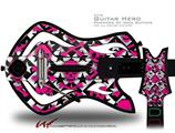 Pink Skulls and Stars Decal Style Skin - fits Warriors Of Rock Guitar Hero Guitar (GUITAR NOT INCLUDED)