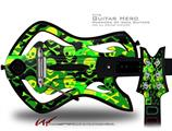 Skull Camouflage Decal Style Skin - fits Warriors Of Rock Guitar Hero Guitar (GUITAR NOT INCLUDED)