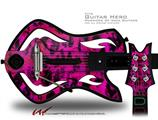 Pink Distressed Leopard Decal Style Skin - fits Warriors Of Rock Guitar Hero Guitar (GUITAR NOT INCLUDED)