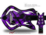 Purple Plaid Decal Style Skin - fits Warriors Of Rock Guitar Hero Guitar (GUITAR NOT INCLUDED)