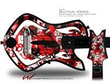 Red Graffiti Decal Style Skin - fits Warriors Of Rock Guitar Hero Guitar (GUITAR NOT INCLUDED)