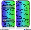 iPhone 4 Decal Style Vinyl Skin - Rainbow Skull Collection (DOES NOT fit newer iPhone 4S)