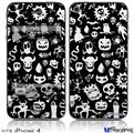 iPhone 4 Decal Style Vinyl Skin - Monsters (DOES NOT fit newer iPhone 4S)