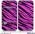 iPhone 4 Decal Style Vinyl Skin - Pink Tiger (DOES NOT fit newer iPhone 4S)