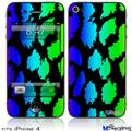 iPhone 4 Decal Style Vinyl Skin - Rainbow Leopard (DOES NOT fit newer iPhone 4S)