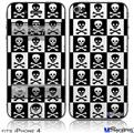 iPhone 4 Decal Style Vinyl Skin - Skull Checkerboard (DOES NOT fit newer iPhone 4S)