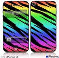 iPhone 4 Decal Style Vinyl Skin - Tiger Rainbow (DOES NOT fit newer iPhone 4S)