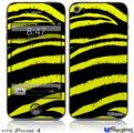 iPhone 4 Decal Style Vinyl Skin - Zebra Yellow (DOES NOT fit newer iPhone 4S)