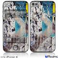 iPhone 4 Decal Style Vinyl Skin - Urban Graffiti (DOES NOT fit newer iPhone 4S)