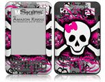 Splatter Girly Skull - Decal Style Skin fits Amazon Kindle 3 Keyboard (with 6 inch display)