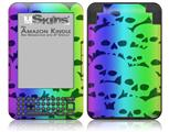 Rainbow Skull Collection - Decal Style Skin fits Amazon Kindle 3 Keyboard (with 6 inch display)