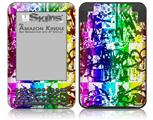 Rainbow Graffiti - Decal Style Skin fits Amazon Kindle 3 Keyboard (with 6 inch display)