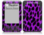 Purple Leopard - Decal Style Skin fits Amazon Kindle 3 Keyboard (with 6 inch display)