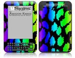 Rainbow Leopard - Decal Style Skin fits Amazon Kindle 3 Keyboard (with 6 inch display)