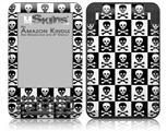 Skull Checkerboard - Decal Style Skin fits Amazon Kindle 3 Keyboard (with 6 inch display)